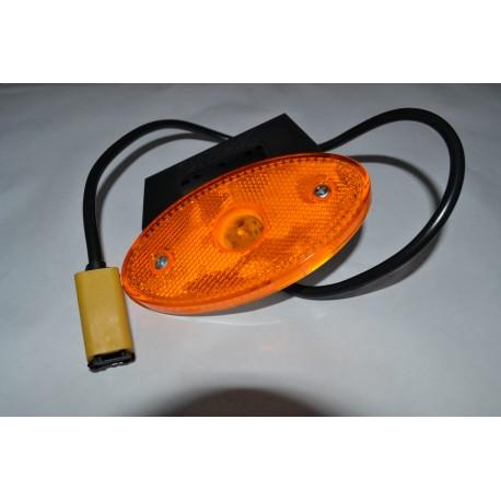 Lampa odblaskowa diodowa boczna żółta z uchwytem12