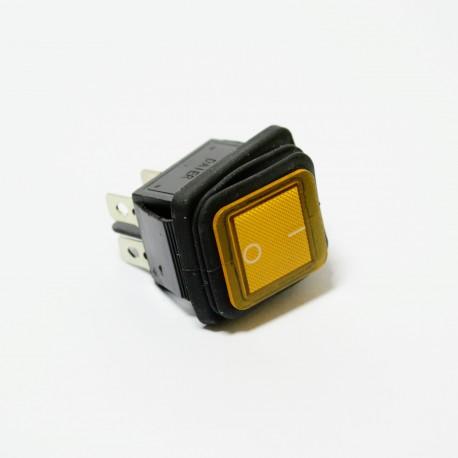 Wyłącznik herm. podświetlany kwadratowy 12/24V