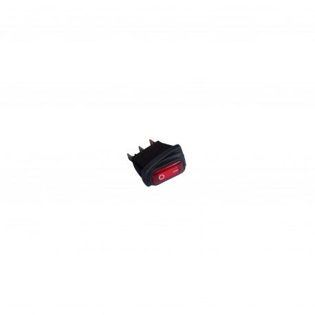Wyłącznik hermetyczny podświetlany prostokątny 24V