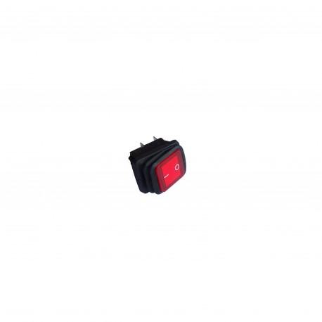 Wyłącznik hermetyczny podświetlany kwadratowy 24V