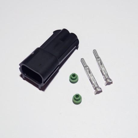 Gniazdo 2-stykowe seria 2,8 mm szczelne